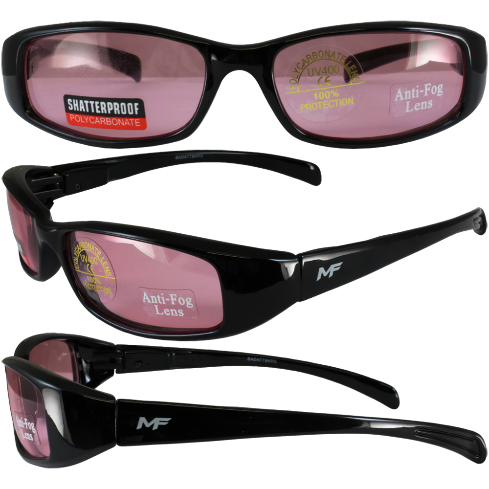 new mf bad attitude motorcycle glasses sunglasses black