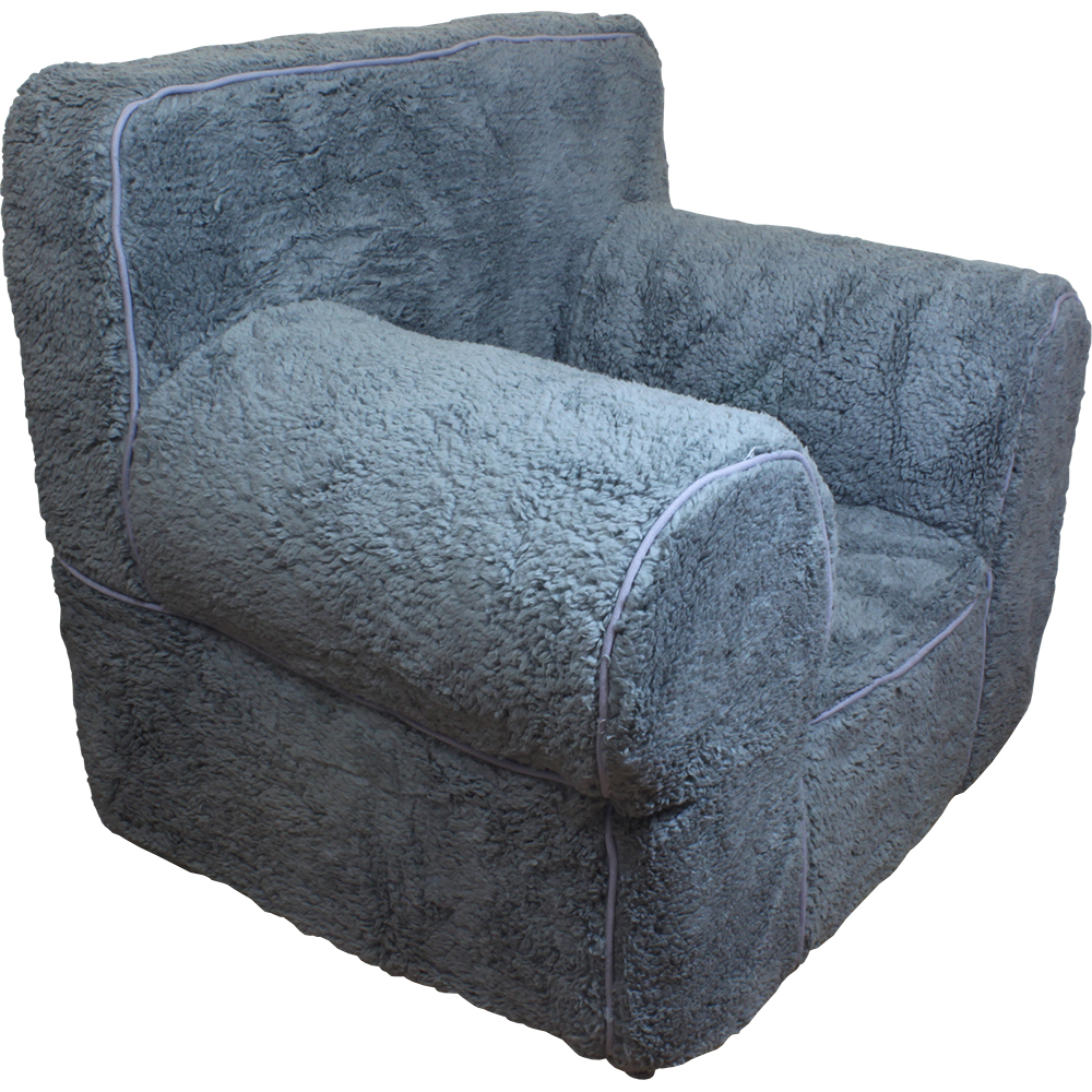 New grey sherpa cover for pottery barn kids anywhere chair for Grey childrens chair