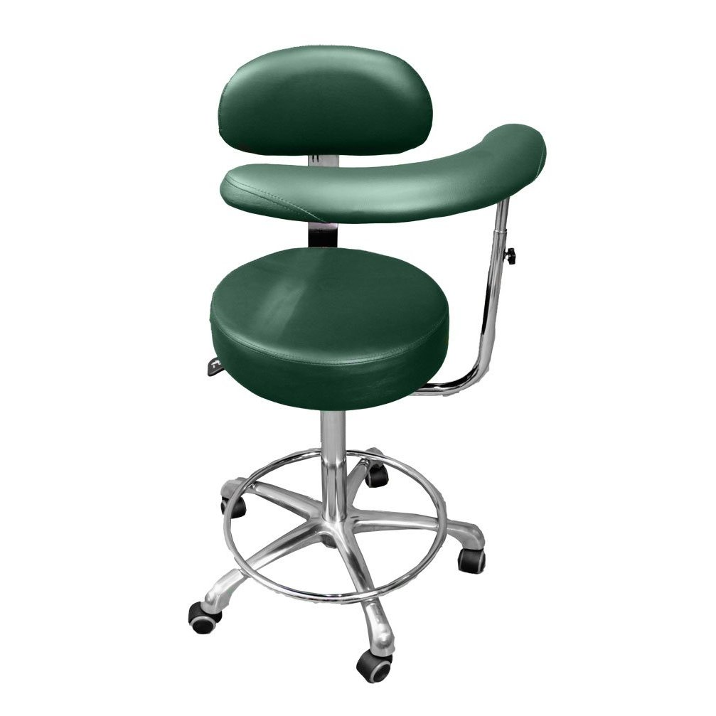 Dental Medical New Assistant Stool Chair Hunter Green