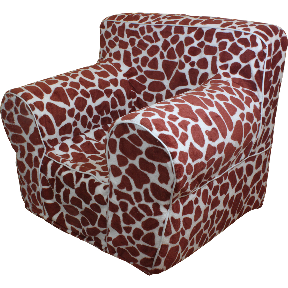 insert for pottery barn kids anywhere chair giraffe print cover small. Black Bedroom Furniture Sets. Home Design Ideas