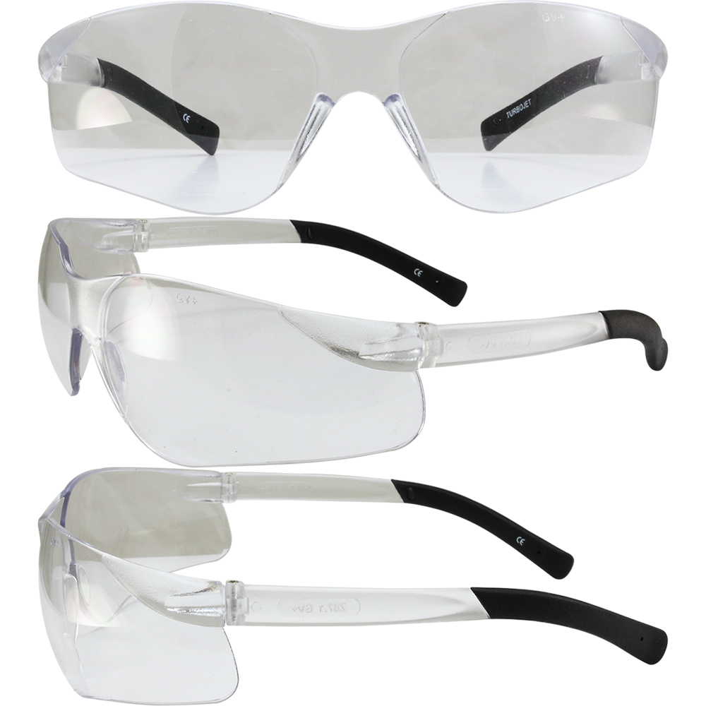 clear frame ray ban sunglasses  clear lens safety