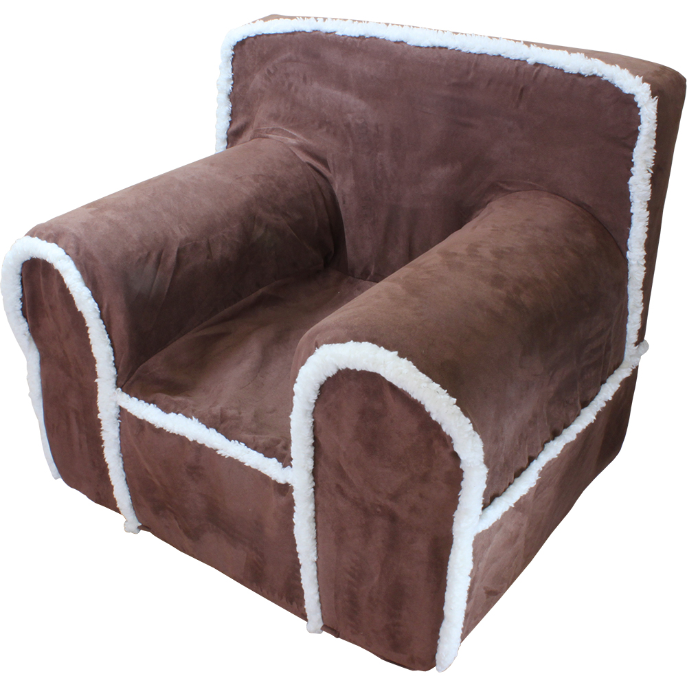 Insert For Anywhere Chair Chocolate Suede Sherpa Cover