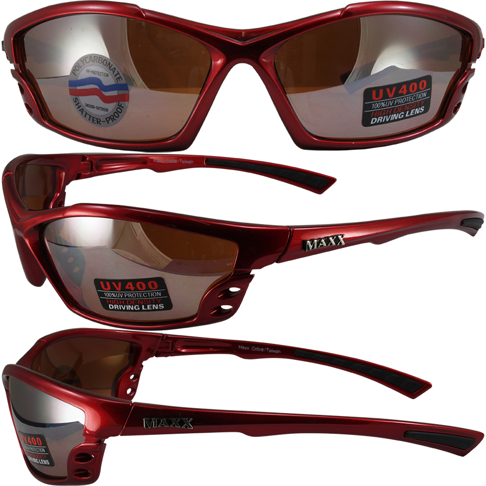 Pugs Sunglasses Red w//Smoke Lens--NEW w//Tags--FREE Shipping--Lifetime Warranty